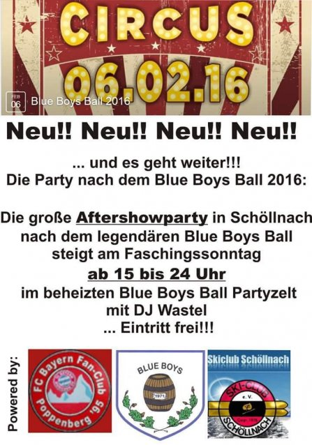 Faschingsparty 2016